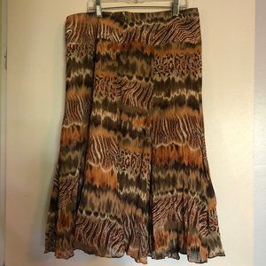 Christopher & Banks Skirts - Christopher & Banks Midi Skirt Womens Size 8 Boho